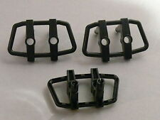 Lego 3 parebuffles noirs set 4622 4795 4794 4657 / 3 black car grille with pins