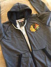 Chicago Blackhawks Hoodie Sweatshirt Mitchell And Ness Rare Mens NHL Hockey