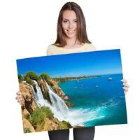 A1 - Waterfall Duden Antalya Turkey  Ocean Poster 60X90cm180gsm Print #24412