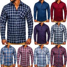 Herrenhemd Freizeithemd Hemd Shirt Casual Slim Fit Kariert Herren BOLF Classic