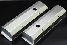 SBC FABRICATED TALL ALUMINUM VALVE COVERS w/ ACCESSORY HOLES # 6351