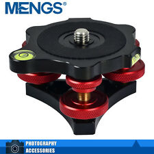 MENGS LP-64 3/8 Inch Screw Tripod Leveling Base w/ 3 Adjustment Dials