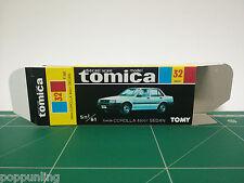 REPRODUCTION BOX for Tomica Black Box No.32 Toyota Corolla 4door Sedan