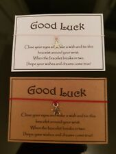 Good Luck * Wish Bracelet * with Star Charm * Friendship * Gift Card