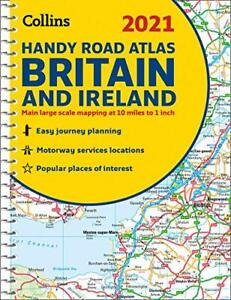 GB Road Atlas Britain 2021 Handy: A5 Spiral (Collins Road... by Collins Maps New