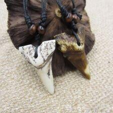 1Pc Imitation Yak Bone Shark Tooth Totem Pendant Amulet Retro Necklace