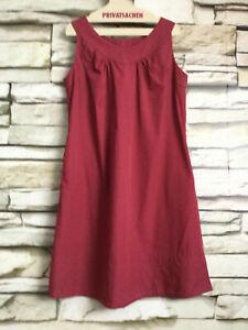 cocon.commerz PRIVATSACHEN BLÄTTERTE Kleid aus PUPPELINE in weinrot Größe 1