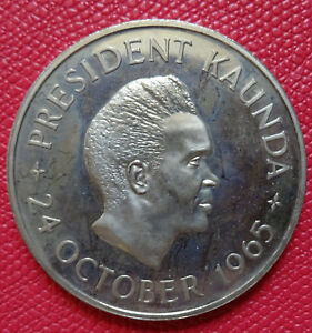 1965 Zambia 5 Shillings GEM Proof Coin only 20,000 Minted  (PF)