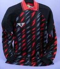 Original viejo stock sin usar-Sondico negro y rojo con dibujos Portero Camisa-fs9