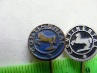 CONTINENTAL (CONTI)...Tyres,car parts..Lot of 2 Original enamel Pin Badges..