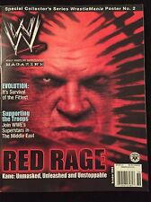 WWF/WWE Magazine October 2003 Issue Kane Cover. Includes Wrestlemania Poster