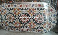 6'x3' Unique Marble Console Table Top Inlay Beautifully Floral Garden Decor E349