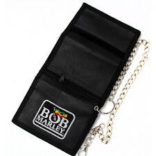 Bob Marley Triple Fold Imitation Leather Chain Wallet