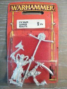 Etat Major Guerrier Squelette Blister Warhammer Battle Aos Neuf 1997 Oop