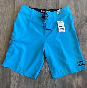 Billabong Mens Board Shorts Size 34 Turquoise boardshorts NWT
