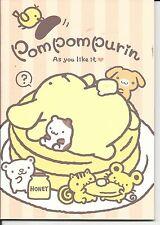 Sanrio Pom Pom Purin Composition Notebook Pancakes