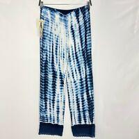 Studio West Women Blue Tie Dye Wide Leg Pants Size M New