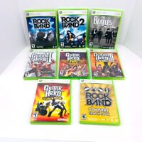 Rock Band 1 2 The Beatles Guitar Hero 2 3 Country Track Pack Xbox 360 Lot Of 8