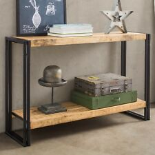 UP-Cycled Industrial Style Console Table with 1 Shelf made from Metal & Wood