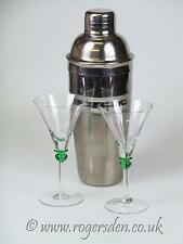 Stainless Steel Cocktail Shaker & Very Delicate Cocktail Glasses