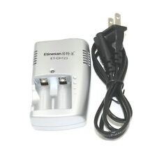 2 slot 3v CR123A 123a rechargeable lithium li-ion battery charger
