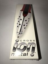 CROSS ION Rollerball Gel Pen * METAL RED * No Longer Made NO LOGOS NEW & SEALED!