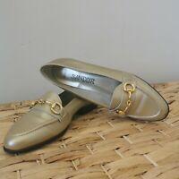 Sandler Bridal Gold Flats Size 7 Women's Shoe Golden