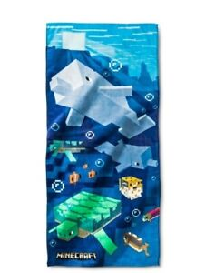 Minecraft Shipwreck Beach Towel MEASURES  28 x 58 inches NEW