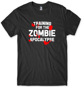 Training For The Zombie Apocolypse Mens Funny Unisex T-Shirt