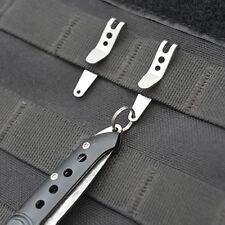 EDC Pocket Suspension clip Porte-clés camping extérieur Boucles pince tenaille