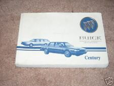 1993 BUICK CENTURY OWNERS MANUAL 93 WAGON
