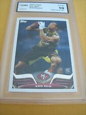 ERIC REID 49ERS TOPPS  # 135 ROOKIE RC GRADED 10