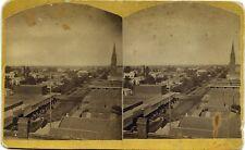 California stereoview (1870's) High view of Main Street in Marysville, CA