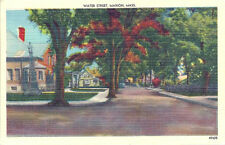 Postcard Massachusetts Marion Water Street Plymouth Cnty Late 1940s-50s Nr Mint