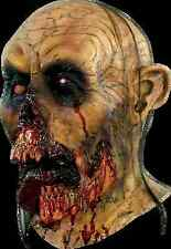 BRAND NEW Flesh Hungry Undead Walker DELUXE ADULT LATEX ZOMBIE TONGUE MASK