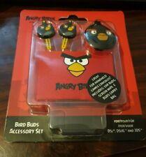 black Angry Birds Bird Buds Earphones Headphones Nintendo iPhone samsung Psp