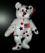 Ty Beanie Babies Glory Patriotic Bear Patch Flag - Error 1998 Tush Tag