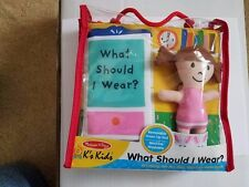 Melissa & Doug Soft Activity Baby Book What Should I Wear?