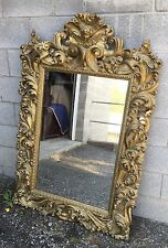 Beautiful Carved Gold Mirror With Cherub