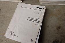 WACKER PT2 TRASH PUMP Parts Manual Book List catalog spare 2003 water 2 inch