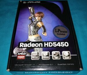 Sapphire Radeon HD5450 1 GB DDR3 PCI-E Graphics Video Card  LP Bracket included
