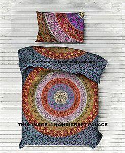 Hippie Mandala Indien Lit Drap Couvre-Lit Bohème Tapisserie Double Literie Set