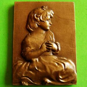L@@k Art Painting Age of Innocence by Joshua Reynolds Great Bronze Plaque Medal!