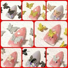 """Best"" DIY 3D Nail Art Decoration Silver Butterfly Alloy Rhinestone Gems Sticker"