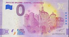 BILLET 0  EURO PAYS DE SALERS CANTAL  FRANCE  2021 NUMRO DIVERS