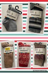 Smartwool Women's Traditional Snow Flake socks, Jovian Stripe, Mini Boot, Cable