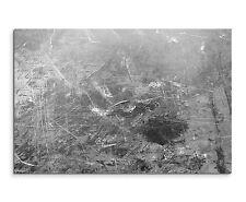120x80cm Astratto_970 Nero Bianco Grigio Jung Grunge Quadro Su Tela Sinus Art