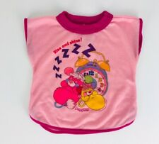Vintage 1986 POPPLES Doll Size Nightgown Pajamas PJ's Rise and shine! Shirt