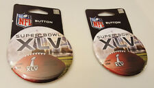 "NFL Super Bowl XLV 45 Pair Of Wincraft Officially Licensed 3 1/2"" Button Pins"
