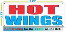 HOT WINGS Banner Sign NEW Larger Size Best Quality for the $$$$$ RWB